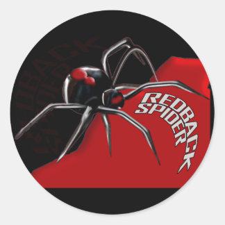 Araña del Redback Etiquetas Redondas