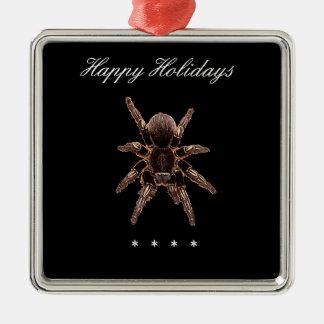 Araña del Tarantula Adorno Cuadrado Plateado