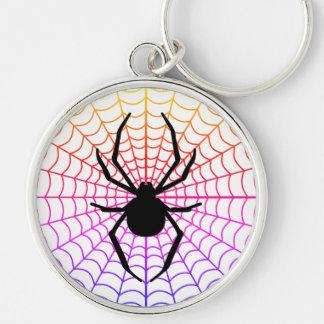 Araña en llavero superior redondo del Web