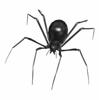 Araña espeluznante negra grande 3D Esculturas Fotográficas