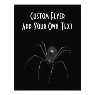 Araña espeluznante negra grande 3D Tarjetón