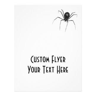 Araña espeluznante negra grande 3D Folleto 21,6 X 28 Cm