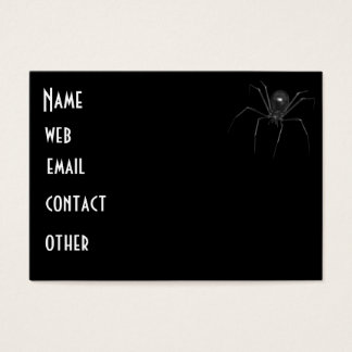 Araña espeluznante negra grande 3D Tarjeta De Negocios