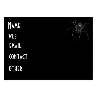 Araña espeluznante negra grande 3D Tarjetas De Visita Grandes