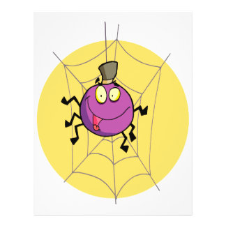 araña feliz torpe en dibujo animado de la tela tarjetas publicitarias