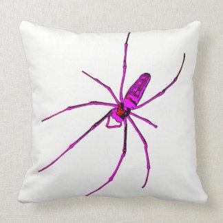 Araña grande cojín decorativo