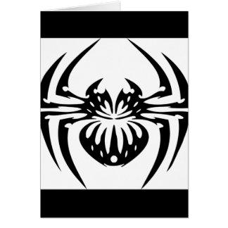 Araña negra y tribal tarjeta de felicitación