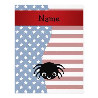 Araña patriótica conocida personalizada tarjetones