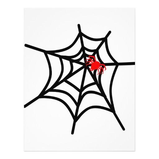 Araña roja maravillosa en el Web - Halloween Tarjetones