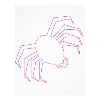 Araña rosada de Halloween Folleto 21,6 X 28 Cm