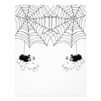 Araña satisfecha folleto 21,6 x 28 cm