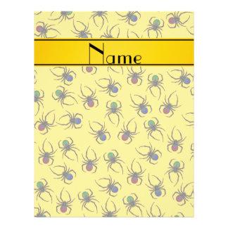 Arañas amarillas conocidas personalizadas folleto 21,6 x 28 cm