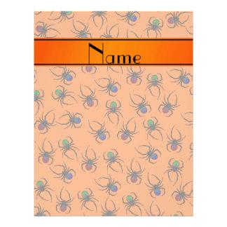 Arañas anaranjadas conocidas personalizadas folleto 21,6 x 28 cm