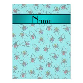 Arañas conocidas personalizadas de la turquesa folleto 21,6 x 28 cm