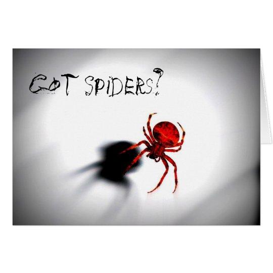¿Arañas conseguidas? Tarjeta de felicitación de