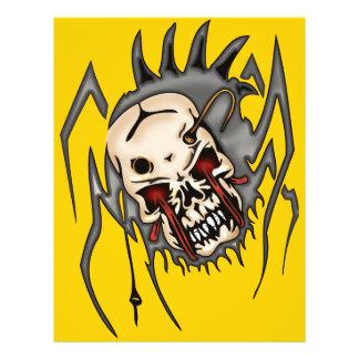 Arañas del cráneo del Cyborg Flyer Personalizado