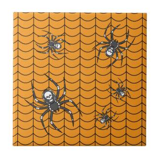 Arañas en la teja del desfile