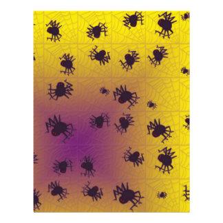 Arañas negras de arrastre flyer personalizado