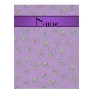 Arañas púrpuras conocidas personalizadas folleto 21,6 x 28 cm