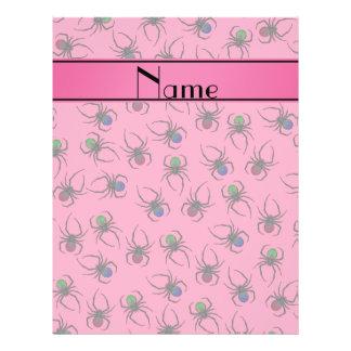 Arañas rosadas conocidas personalizadas folleto 21,6 x 28 cm