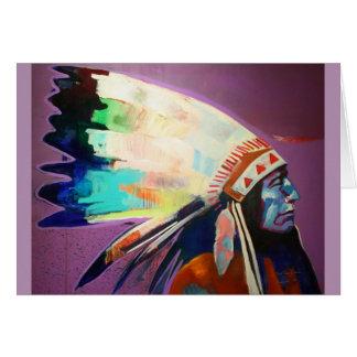 Arapaho azul de la cara tarjeta de felicitación