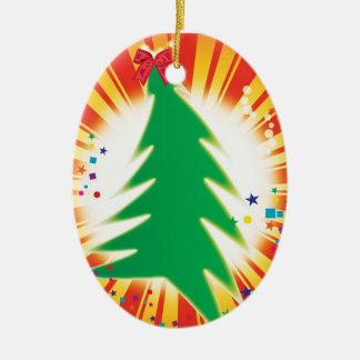 Árbol adaptable 2013 del ornamento del navidad adorno navideño ovalado de cerámica