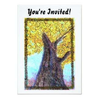 ¡Árbol Aleph de la caída - le invitan! Invitación 12,7 X 17,8 Cm