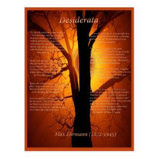 Árbol anaranjado postal