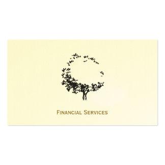 Árbol artístico (acento del oro) tarjetas de visita