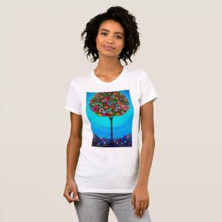 Árbol caprichoso de la pintura de la vida camisas