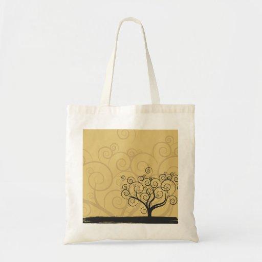 Árbol caprichoso de Swirly Bolsas