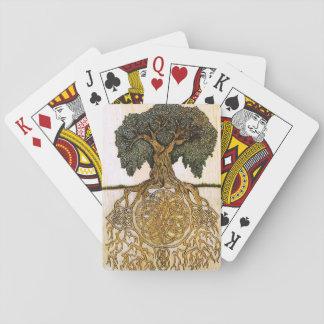 Árbol céltico de la baraja de la vida baraja de cartas