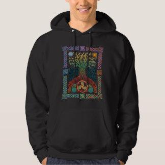 Árbol céltico de la camiseta de la oscuridad de la