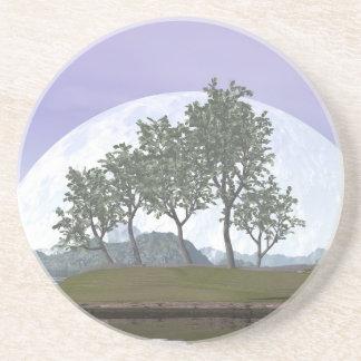 Árbol con hojas liso de los bonsais del olmo - 3D Posavasos