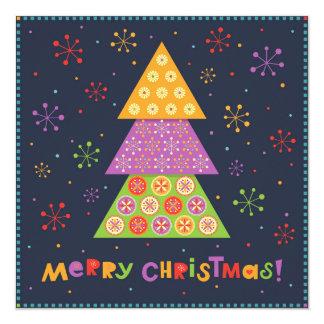 Árbol de abeto decorativo del navidad invitación 13,3 cm x 13,3cm