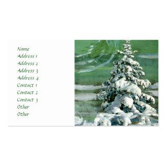 Árbol de abeto del libro de recuerdos tarjetas de negocios