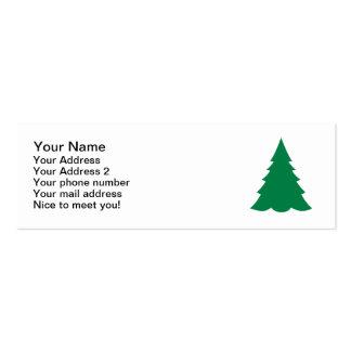 Árbol de abeto verde tarjetas de visita mini