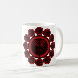 Árbol de Algiz de la taza de café de la runa de la