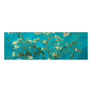 Árbol de almendra floreciente de Vincent van Gogh Tarjetas De Visita Mini