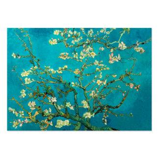 Árbol de almendra floreciente de Vincent van Gogh Tarjetas De Visita Grandes