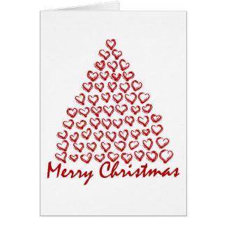 Árbol de amor del navidad tarjeta de felicitación