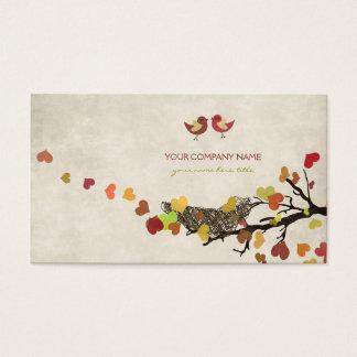 Árbol de amor tarjeta de negocios
