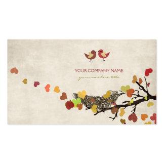 Árbol de amor tarjetas de visita