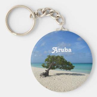 Árbol de Aruba Divi Divi Llavero Redondo Tipo Chapa