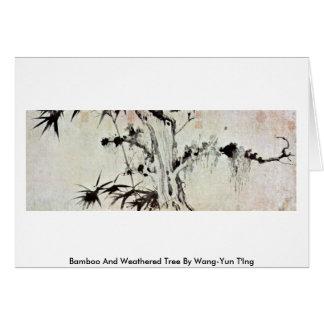 Árbol de bambú y resistido por Wang-YUN T Ing Tarjeton