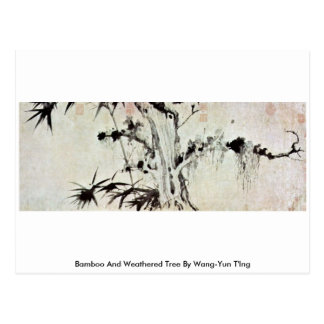Árbol de bambú y resistido por Wang-YUN T Ing Postal