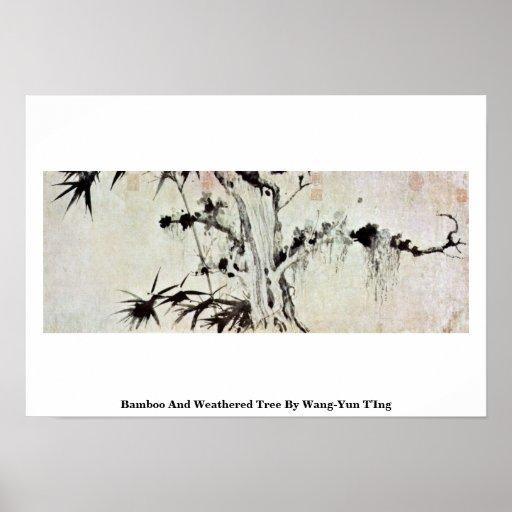 Árbol de bambú y resistido por Wang-YUN T'Ing Impresiones
