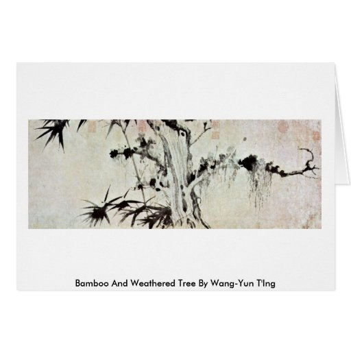 Árbol de bambú y resistido por Wang-YUN T'Ing Tarjeton
