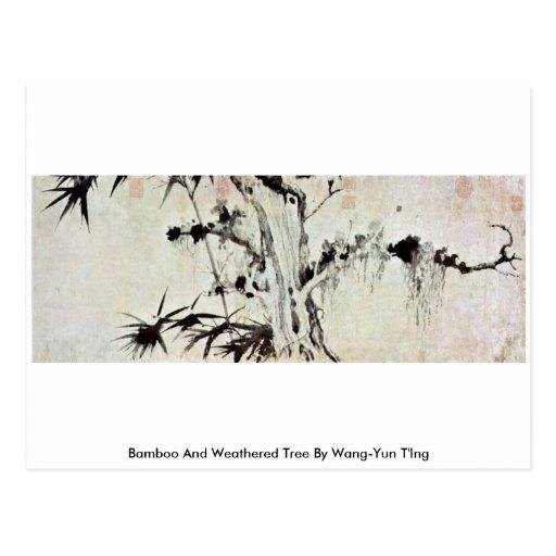 Árbol de bambú y resistido por Wang-YUN T'Ing Postal