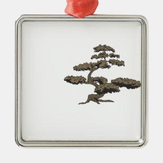 Árbol de Bonzai Adorno Navideño Cuadrado De Metal